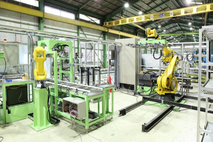 メッキ処理ロボットライン 画像
