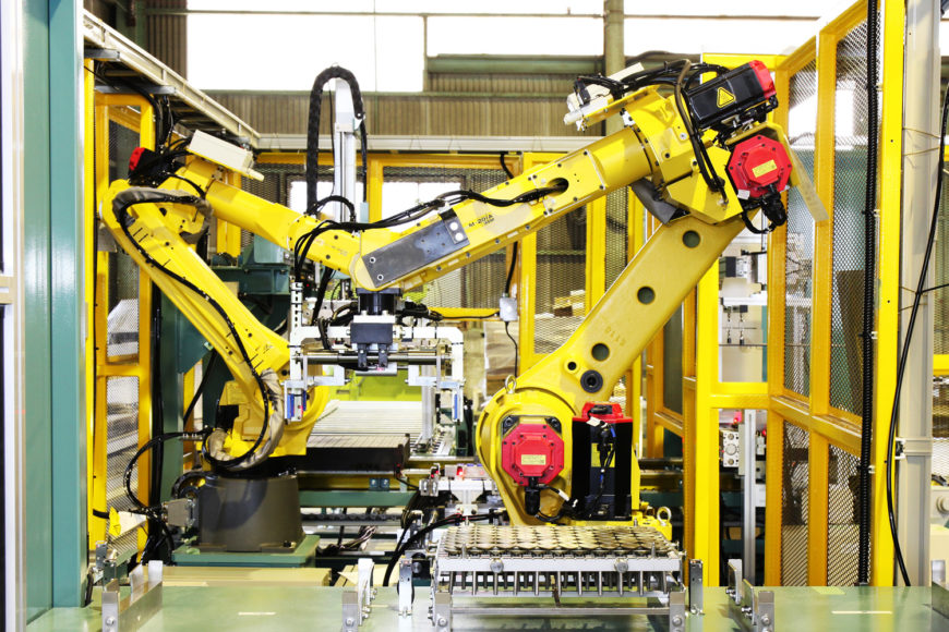 熱処理搬送ライン ロボット